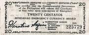 20 Centavos (Mindanao) – avers