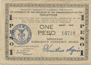 1 Peso (Mindanao) – avers