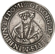 1 thaler Georg de Braunschweig-Wolfenbüttel – avers
