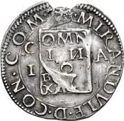 ½ testone - Gianfrancesco II – revers