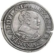 1 testone - Alessandro I – avers