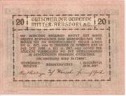 20 Heller (Mitter-Arnsdorf) – revers
