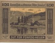 50 Heller (Mitter-Arnsdorf) – avers