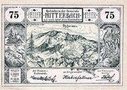 75 Heller (Mitterbach; Green issue) – avers