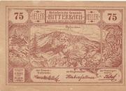 75 Heller (Mitterbach) – avers