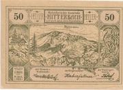 50 Heller (Mitterbach) – avers