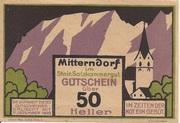 50 Heller (Mitterndorf) – avers