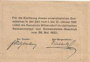 50 Heller (Mitterndorf) – revers
