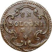 1 bolognino Hercule III d'Este – revers