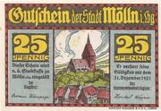 25 Pfennig (Mölln) – avers