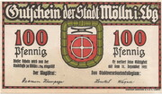 100 Pfennig (Mölln) – avers
