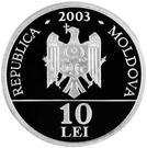 10 Lei (Vison d'Europe) – avers