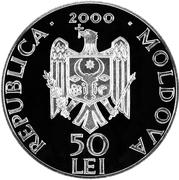 50 Lei - Monastery Căpriana – avers
