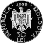 50 Lei - Monastery Condriţa – avers