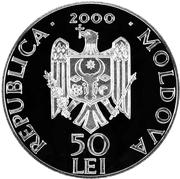 50 Lei - Monastery Curchi – avers
