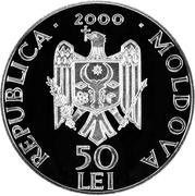 50 Lei - Monastery Cuşilăuca – avers