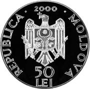 50 Lei - Monastery Hîrjauca – avers