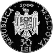 50 Lei - Monastery Hirova – avers