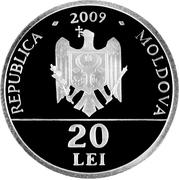"20 Lei (""Assumption of the Virgin"" Church from Căuşeni) – avers"