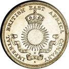 ½ rupee – avers