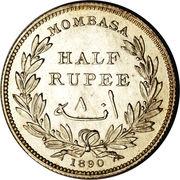 ½ roupie – revers