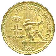 2 francs Louis II – avers