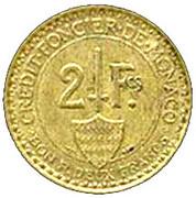 2 francs Louis II – revers