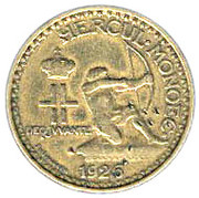1 franc Louis II – avers