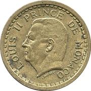 2 francs Louis II (bronze-aluminium) – avers