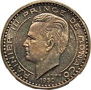 100 francs Rainier III (essai) – avers