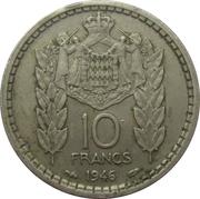 10 francs Louis II – revers