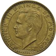 50 francs Rainier III – avers