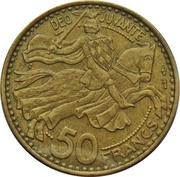 50 francs Rainier III – revers