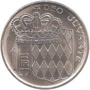 1 franc Rainier III -  revers