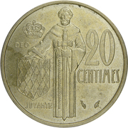 20 centimes Rainier III -  revers