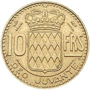 10 francs Rainier III -  revers