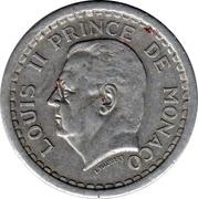 2 francs Louis II (aluminium) – avers