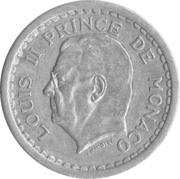 1 franc Louis II (aluminium) – avers