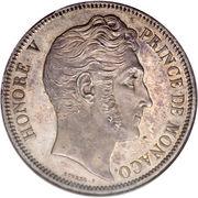 5 francs Honoré V – avers