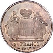 5 francs Honoré V – revers
