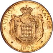 20 francs Charles III – revers