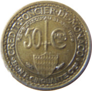 50 centimes Louis II – revers