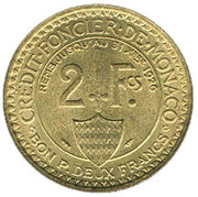 2 francs Louis II – revers