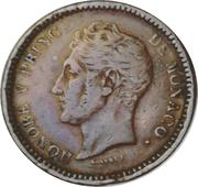 1 décime Honoré V (Petite tête en bronze) – avers