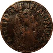 Liard de 4 deniers (denari, Antoine 1er de Monaco) – avers