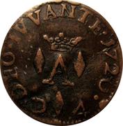 Liard de 4 deniers (denari, Antoine 1er de Monaco) – revers
