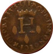 1 dardenna ou 6 deniers St Dévote Honoré III de Monaco – avers