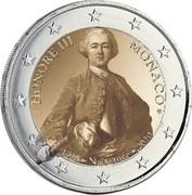2 euros Honoré III de Monaco -  avers