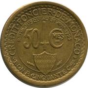 50 centimes Louis II -  revers