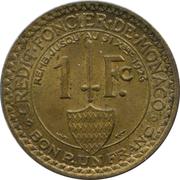 1 franc Louis II – revers